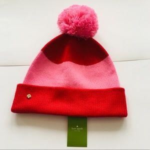 New! Kate Spade ♠️ New York Pink Pom Beanie